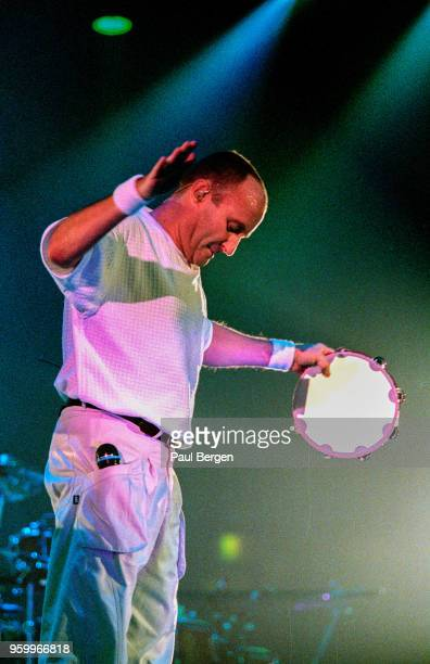 British drummer, singer and songwriter Phil Collins performs at Ahoy as part of his The Trip into the Light World Tour, Rotterdam, Netherlands, 28...
