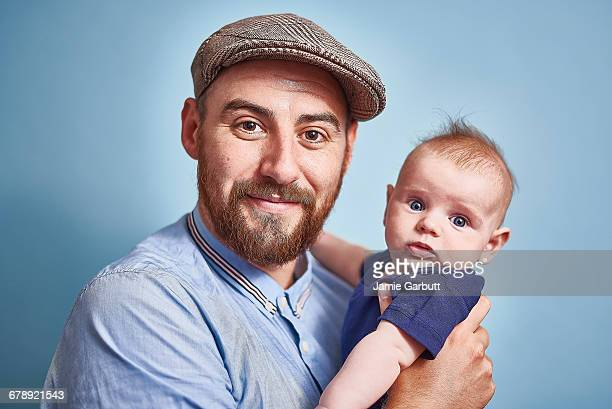 British early 30's male and his infant son