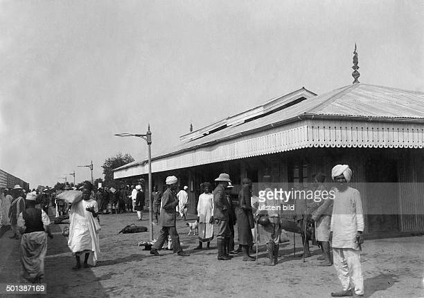 Station of the Uganda Railway probably in the 1910s