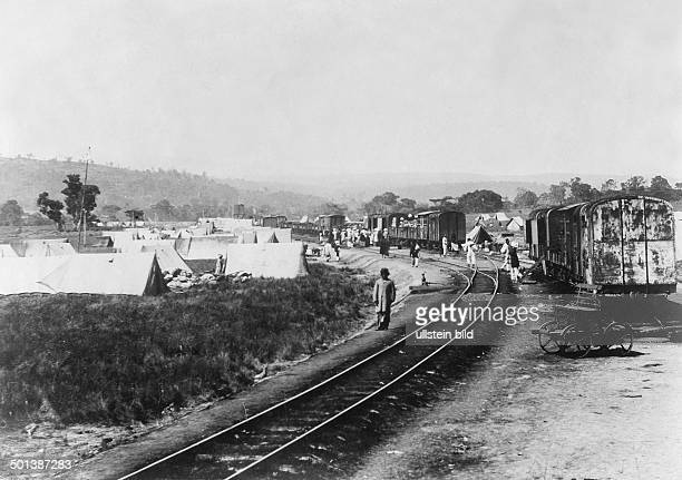 British East Africa Uganda Railway Tents along the track Probably dwellings of the railway workers probably in the 1910s