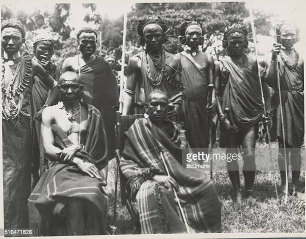 British East AfricaORIGINAL CAPTION READS Photo of a group of Kikiryu chieftains in British East Africa Undated photograph