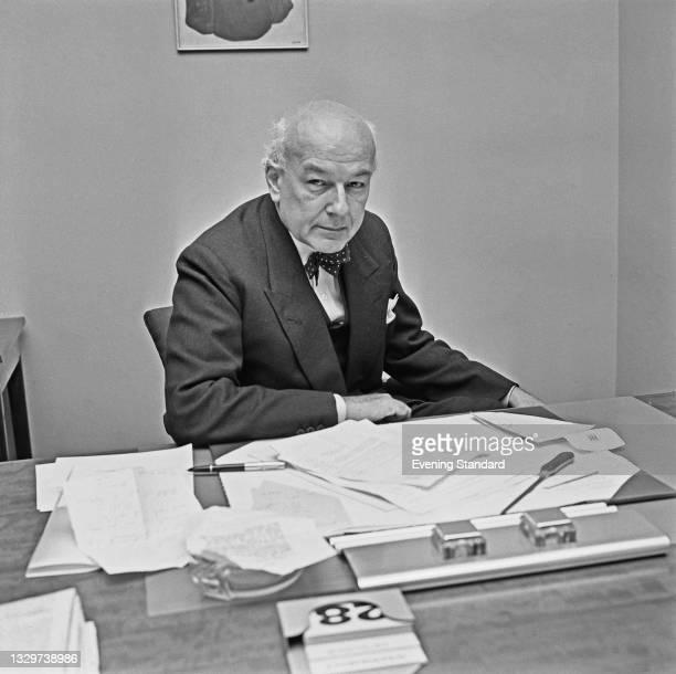 British economist Sir Thomas Balogh, Baron Balogh , UK, 29th October 1964.