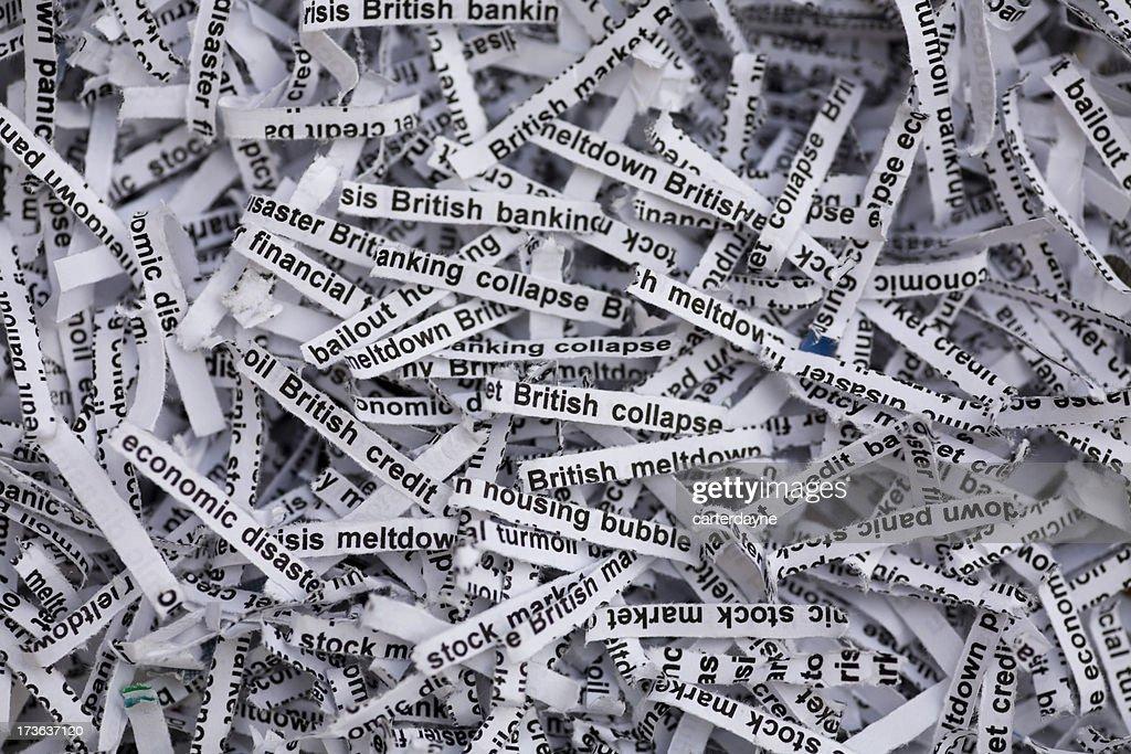 British Economy and Housing Meltdown : Stock Photo