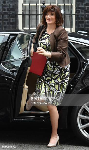 British Education Secretary and Minister for Women and Equalities Nicky Morgan arrives to attend a cabinet meeting in central London on July 5 2016...
