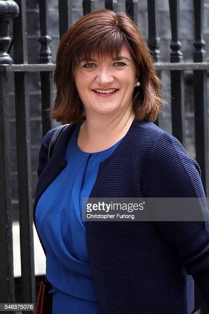 British Education Secretary Nicky Morgan arrives for a cabinet meeting at Downing Street on July 12 2016 in London England David Cameron will step...