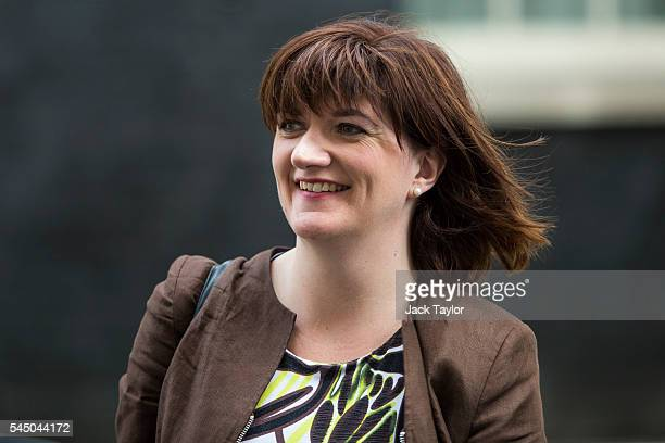 British Education Secretary Nicky Morgan leaves number 10 Downing Street following a Cabinet meeting on July 5 2016 in London England Conservative...