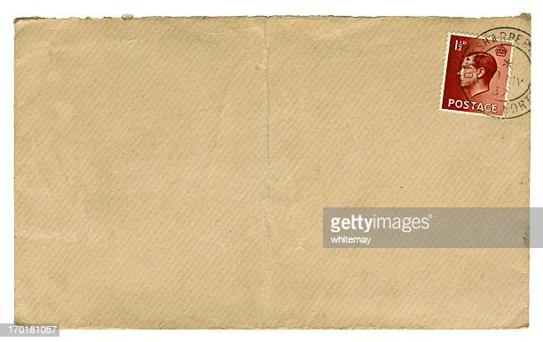 british edward viii stamped brown envelope, 1937 - british culture stock pictures, royalty-free photos & images