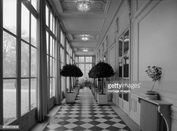 British Embassy 39 Rue de Fauborg Saint Honore Paris France 1964 View looking along the gallery beside the ballroom Photographed for the Ministry of...