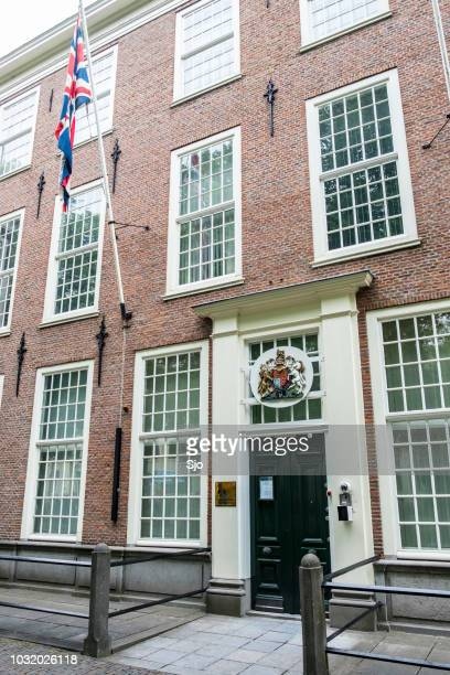 british embassy at the lange voorhout in the hague, the netherlands - british embassy stock pictures, royalty-free photos & images