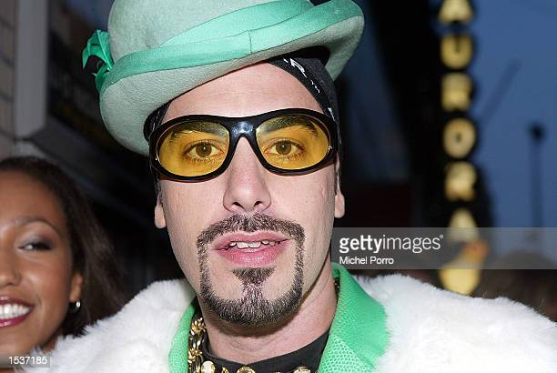 British entertainer Ali G arrives at the Dutch premiere of his movie 'Indahouse' April 23 2002 in Amsterdam Netherlands