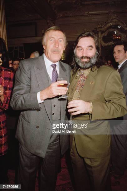 British entertainer Bruce Forsyth with orthern Irish former footballer George Best 9th December 1990