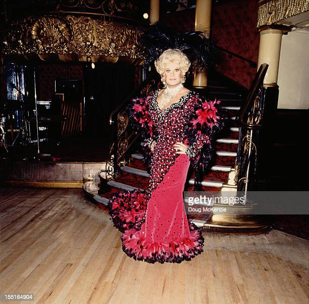 British entertainer Danny La Rue as Dolly Levi in the musical 'Hello Dolly' 18th May 1983