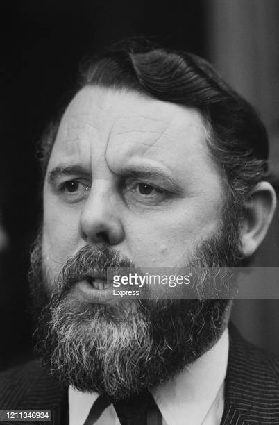 British envoy for the Church of England Terry Waite at a press conference following his negotiated release of four men from nine months detention in...