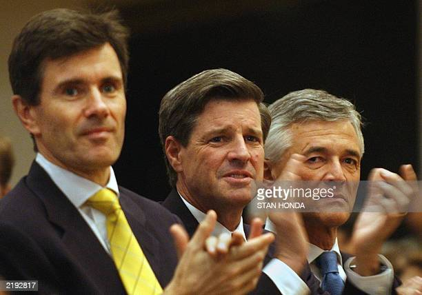 British envoy to Iraq John Sawers top US civil administrator in Iraq Paul Bremer and United Nations special representative Sergio Vieira de Mello...