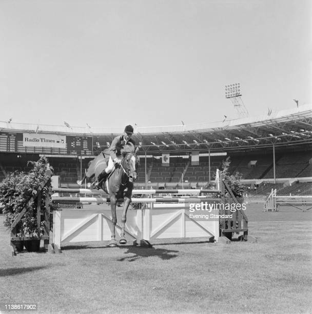 British equestrian and Olympic medalist Peter Robeson at a show jumping event at Wembley Stadium, London, UK, 30th July 1969.
