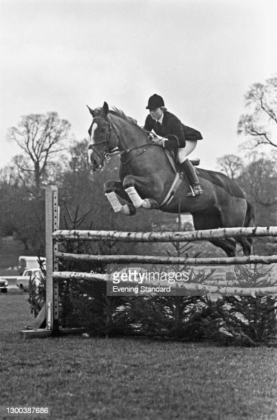British equestrian Ann Moore at a show-jumping event, UK, 15th June 1972.