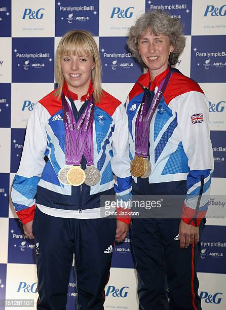 British Equestrian Paralympian medal winning athletes Deborah Criddle and Sophie Wells arrive at the 2012 Paralympic Ball at Grosvenor House Hotel on...