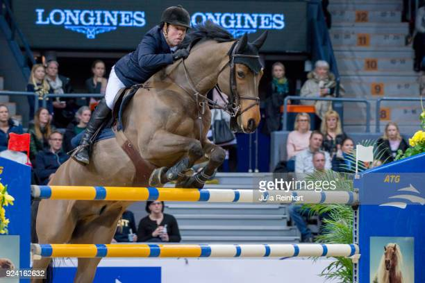 British equestrian Robert Whitaker on Catwalk IV places sixth in the FEI Longines World Cup jumping during the Gothenburg Horse Show in Scandinavium...