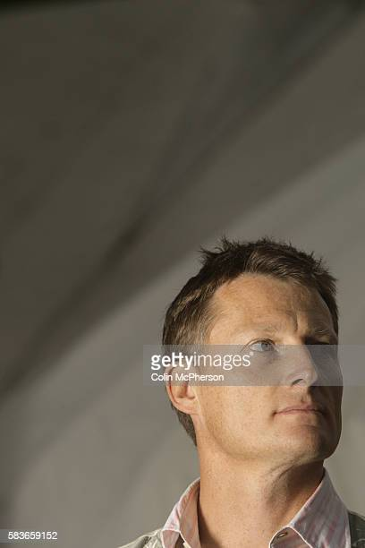 British explorer and writer Benedict Allen pictured at the Edinburgh International Book Festival where he talked about his work The Book Festival was...