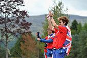 auchterarder scotland british fans cheer action