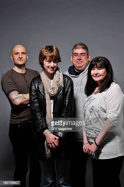 British fantasy authors China Mieville Kate Griffin Ben Aaronovitch and Suzanne McLeod photographed in London for a feature on urban fantasy taken on...