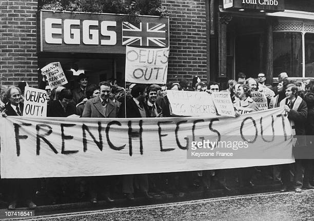 British Farmers Protesting Against The Import Of French Eggs In London On February 13Rd 1905