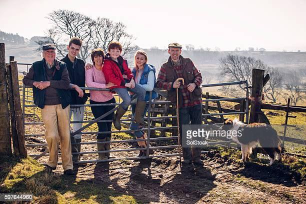British Farming Family