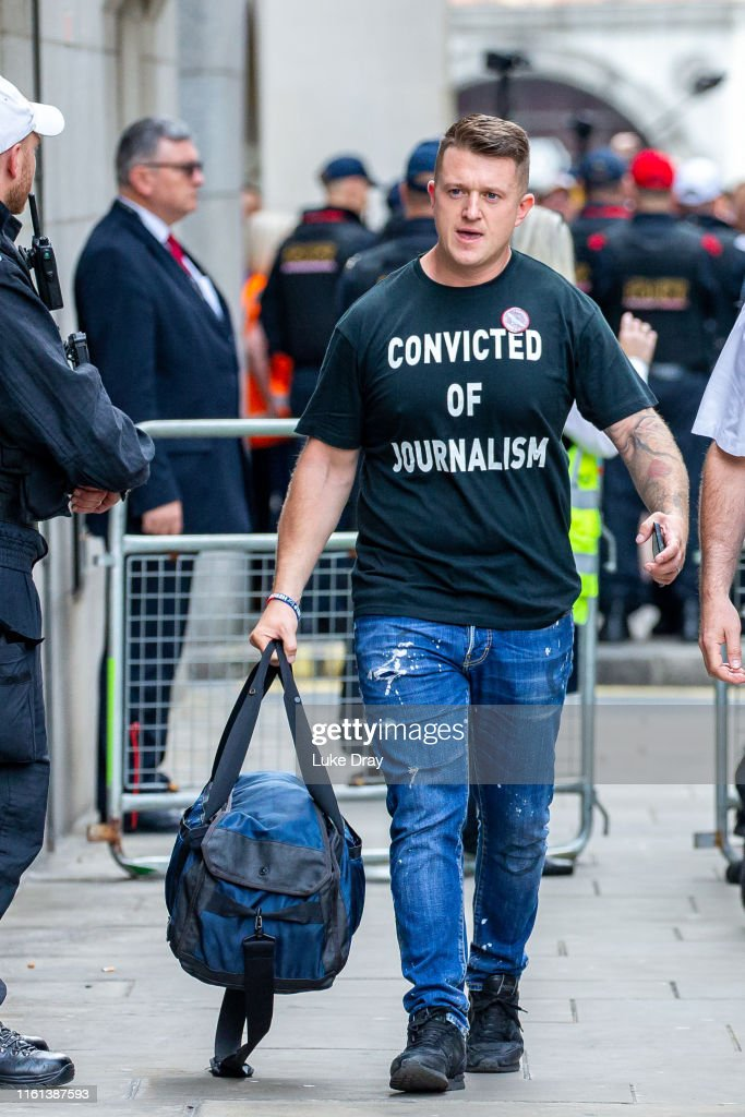 Tommy Robinson Sentenced For Contempt Of Court : News Photo