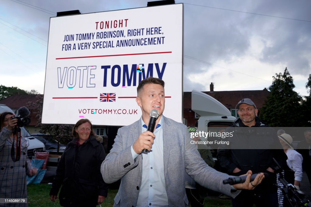 GBR: Tommy Robinson Announces His Election Campaign As MEP For Wythenshawe
