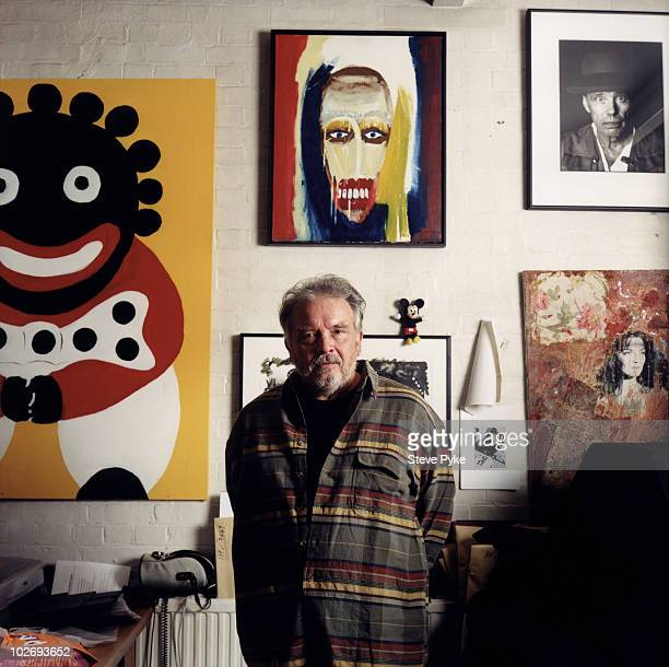 Photographer David Bailey poses for a portrait shoot in London UK