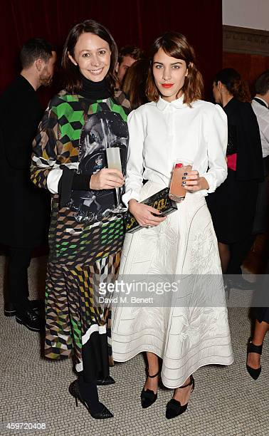 British Fashion Council CEO Caroline Rush and Alexa Chung attend the British Fashion Awards Nominees' Dinner hosted by Grey Goose at the Soho House...