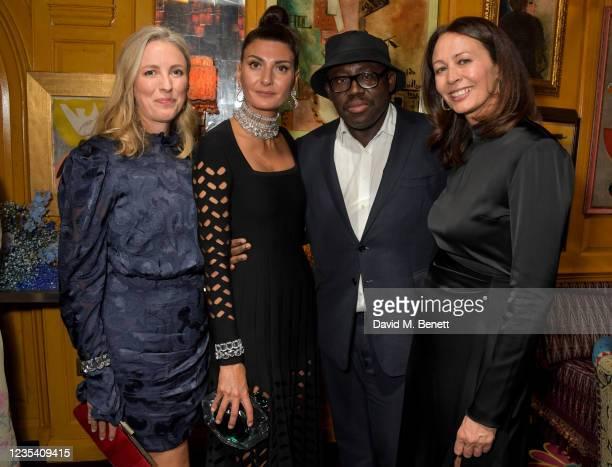 British Fashion Council Chair Stephanie Phair, Giovanna Battaglia Engelbert, Editor-In-Chief of British Vogue Edward Enninful and CEO of the British...