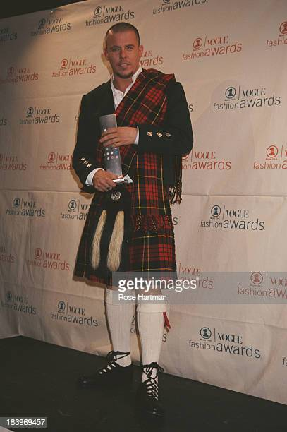 British fashion designer and couturier Alexander McQueen at the VH1/Vogue Fashion Awards at the Park Avenue Armory New York City 1999