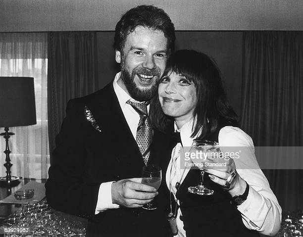 British fashion designer Bill Gibb with actress Fenella Fielding 13th September 1979