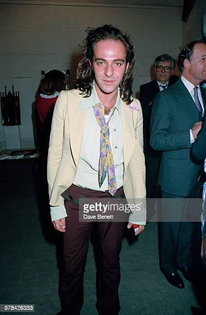 British fashion designer John Galliano attends Art '91, a Contemporary Art Fair in London, 17th April 1991.