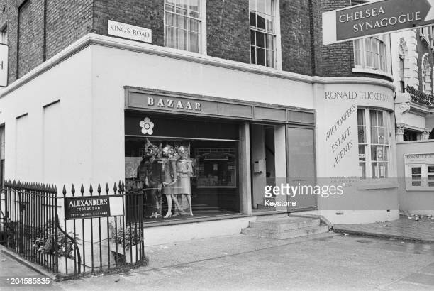 British fashion designer Mary Quant's shop Bazaar on King's Road Chelsea London UK 25th August 1966