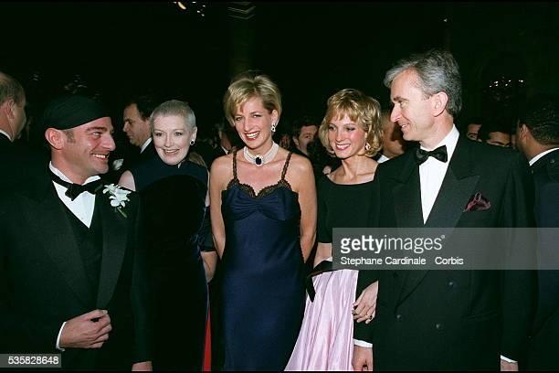 British fashion designer of Dior John Galliano British fashion magazine editor Liz Tilberis Lady Diana Pricess of Wales CEO of the French...