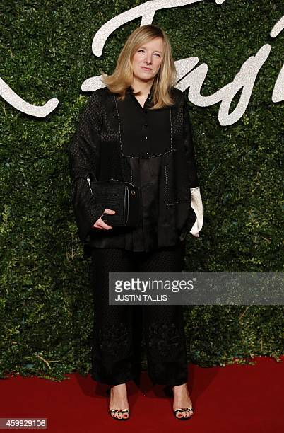 British fashion designer Sarah Burton, creative director of fashion brand Alexander McQueen and the designer of Catherine Middleton's dress for her...