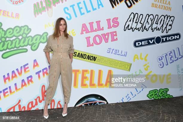 British fashion designer Stella McCartney poses prior her presentation during the men and women's spring/summer 2019 collection fashion show in Milan...