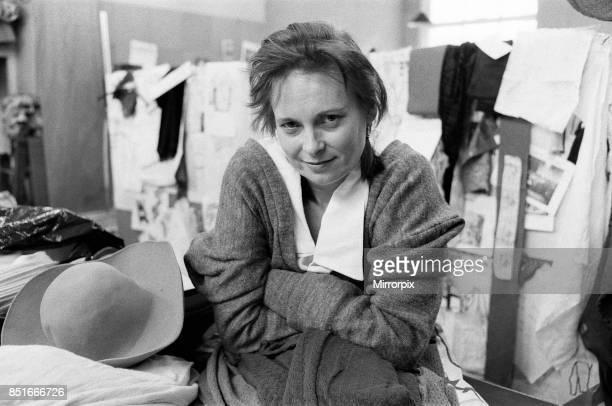 British fashion designer Vivienne Westwood, 28th April 1983.