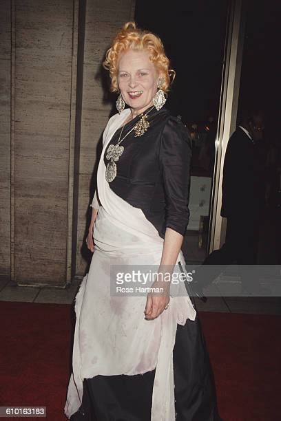 British fashion designer Vivienne Westwood at the 28th annual FiFi Awards, Lincoln Center, New York, 6th June 2000.