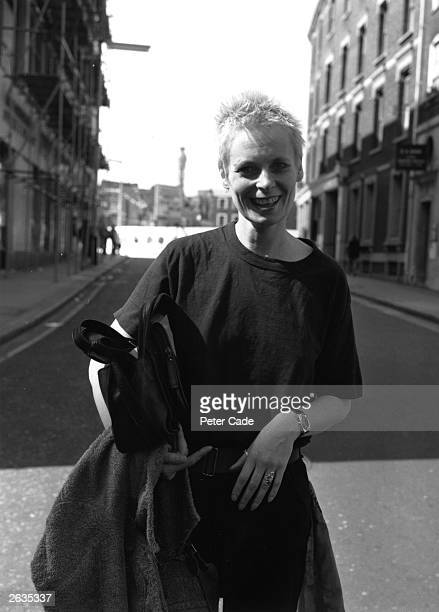 British fashion designer Vivienne Westwood outside Bow Street Magistrate's Court where she is facing a Breach of Peace case