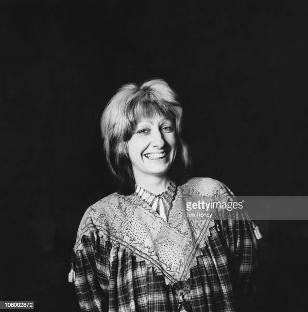 British fashion designer Zandra Rhodes circa 1980