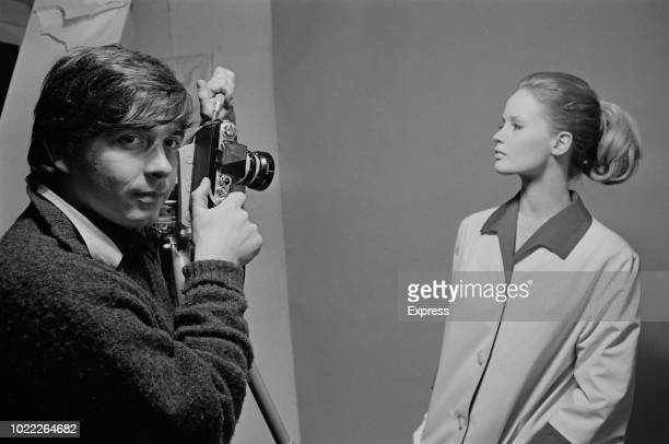 British fashion model Celia Hammond with English fashion and portrait photographer David Bailey UK 11th February 1964