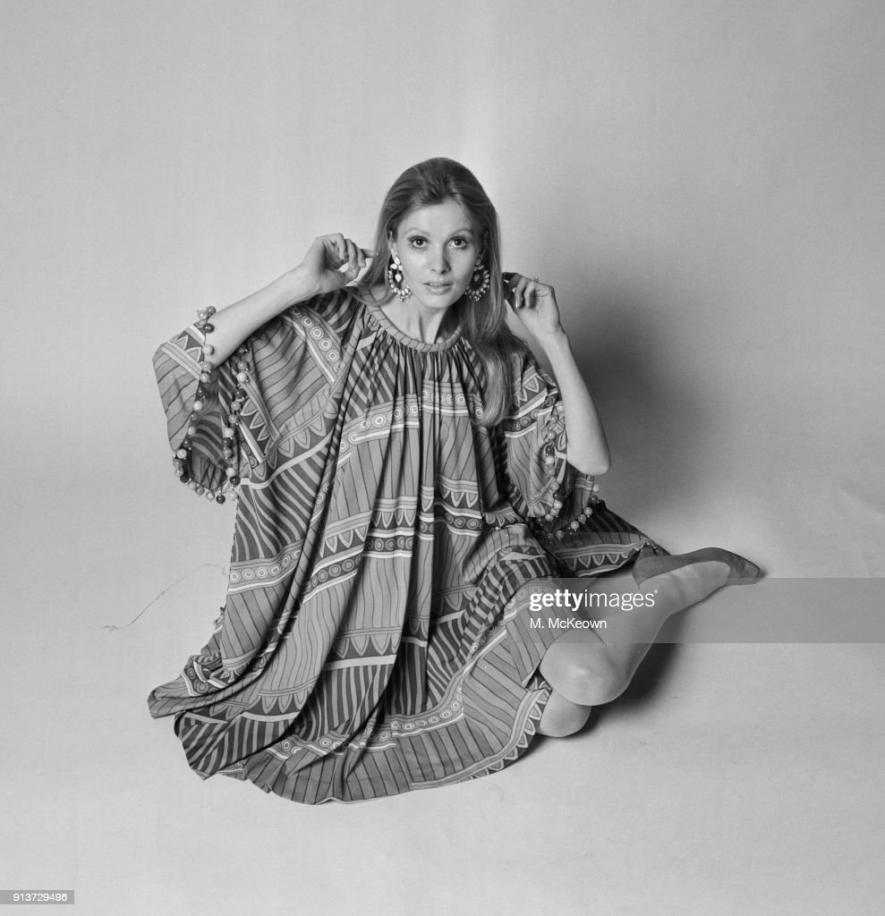 British Fashion Model Maren Greve Wearing Poncho Dress By Fashion News Photo Getty Images