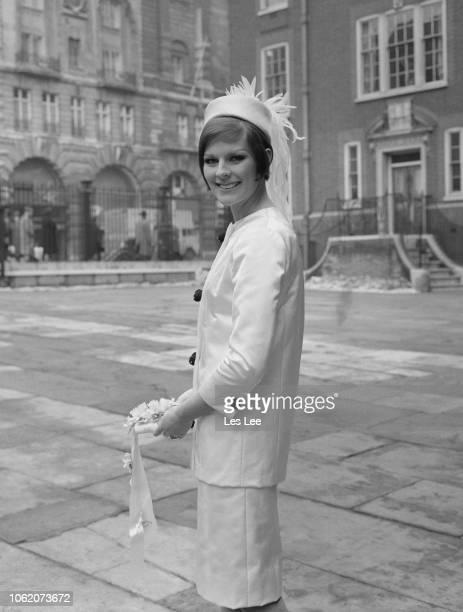British fashion model Paulene Stone on her wedding day with Tony Norris London UK 16th January 1963