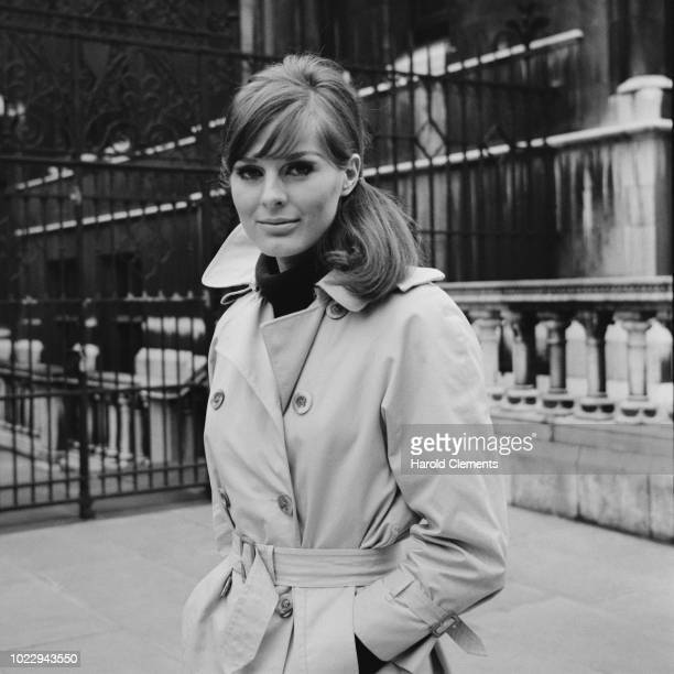 British fashion model Paulene Stone outside the Royal Court of Justice after divorcing from her husband London UK 22nd December 1965