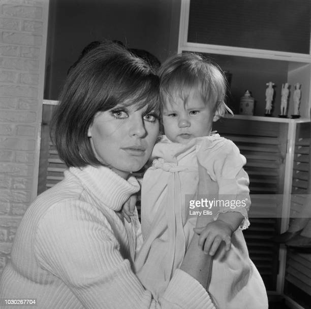 British fashion model Paulene Stone with her daughter Sophie Norris UK 25th September 1964