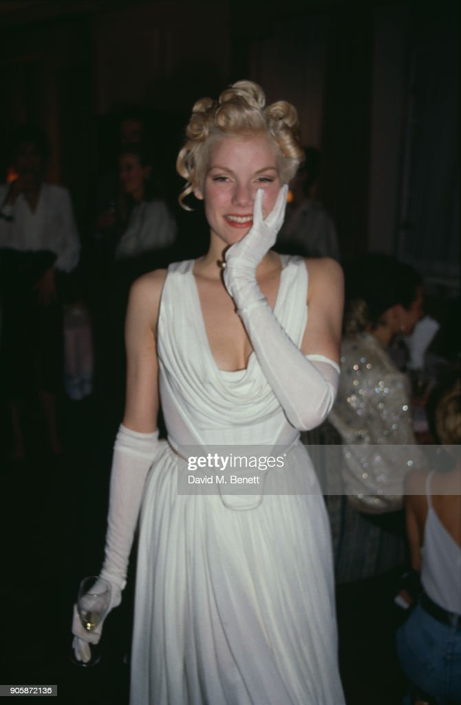 Elle's 'British Beauties' Party, 1988 : News Photo