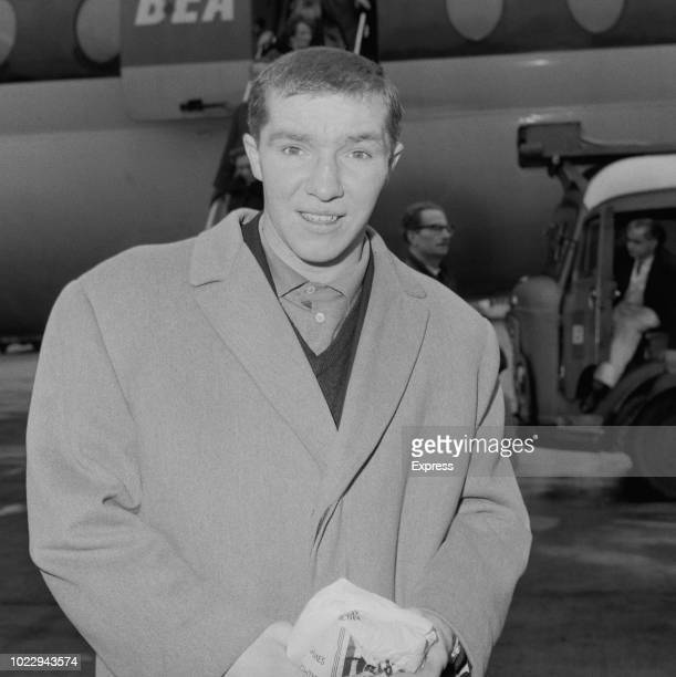 British feather/super feather/light/light welterweight boxer John O'Brien at Heathrow Airport London UK 20th November 1965